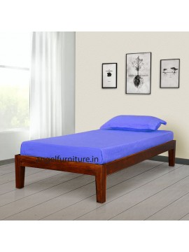 Adana Sheesham Wood Simply Designed Handmade Single bed (Honey)