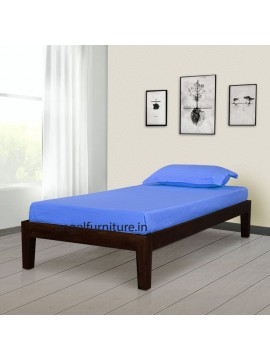 Adana Sheesham Wood Simply Designed Handmade Single bed (Walnut)
