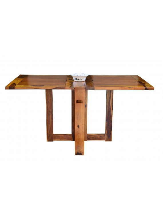 Sheesham Wood Folding Dining Table Plain Top - Honey
