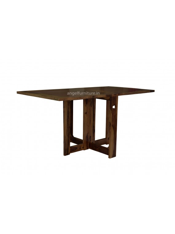 Sheesham Wood Folding Dining Table Plain Top - Walnut