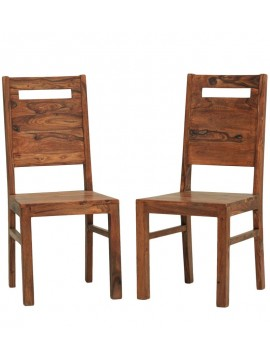 Everson Sheesham Wood dining chair (Set of 2) In Honey Finish