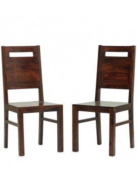 Everson Sheesham Wood dinning chair (Set of 2) In Walnut Finish