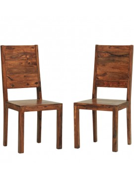 Dallas Sheesham Wood dining chair (Set of 2) In Honey Finish