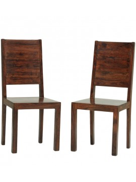 Dallas Sheesham Wood dining chair (Set of 2) In Walnut Finish