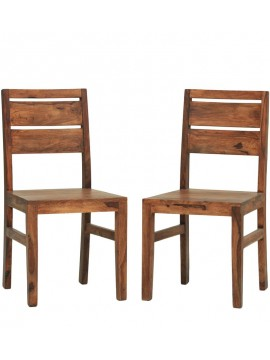 Pearl Sheesham Wood dining chair (Set of 2) In Honey Finish