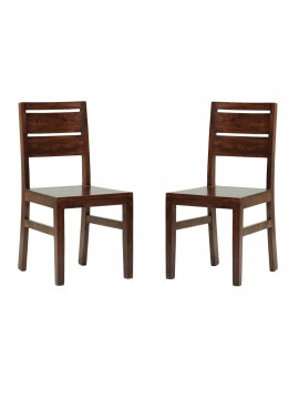 Pearl Sheesham Wood dinning chair (Set of 2) In Walnut Finish