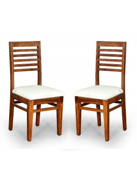 Angel's Calgary Solid Sheesham Wood Dining Chairs Set of 2 In Honey Finish