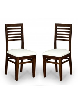 Angel's Calgary Solid Sheesham Wood Dining Chairs Set of 2 In Walnut Finish