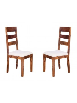 Angel's Waterloo Solid Sheesham Wood Dining Chairs Set of 2 In Honey Finish