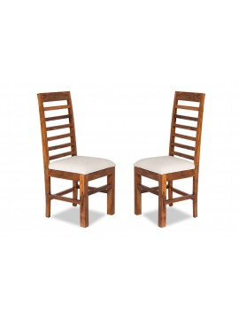 Angel's Niagara Solid Sheesham Wood Dining Chairs Set of 2 In Honey Finish