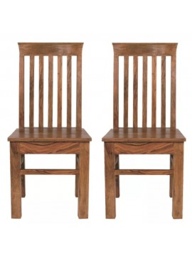 Angel's Vaughan Solid Sheesham Wood Dining Chairs Set of 2 In Honey Finish