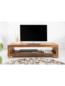 Providence Solid Sheesham Wood Tv unit | Coffee table in Honey Finish
