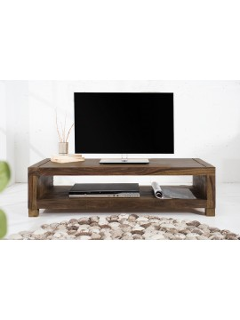 Providence Solid Sheesham Wood Tv unit | Coffee table in Walnut Finish
