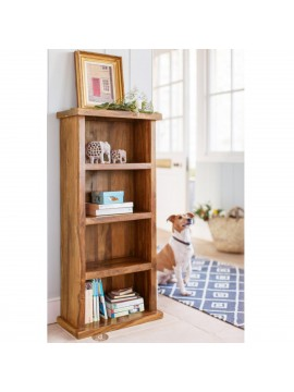 Space Saver Simply Designed Sheesham Wood Bookshelf (Honey)