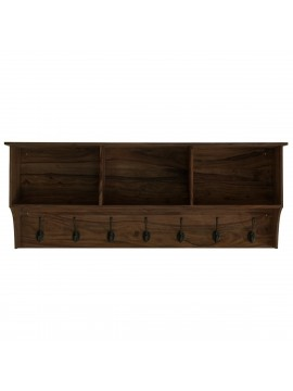 Sheesham Wood Wall Hanging Storage Shelf (Walnut)