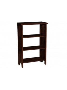 Mallani Solid Wood Folding Shoe Rack | Bookshelf |Removeable self (Walnut)