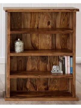 Solid Sheesham Wood Open Space saver Bookshelf (Honey)