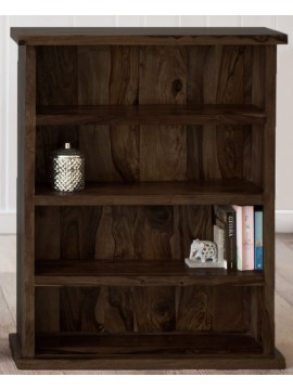 Solid Sheesham Wood Open Space saver Bookshelf (Walnut)
