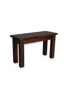 SOLID WOOD TWO SEATER HALLWAY STRIPPED DESIGN SEATING BENCH IN WALNUT FINISH