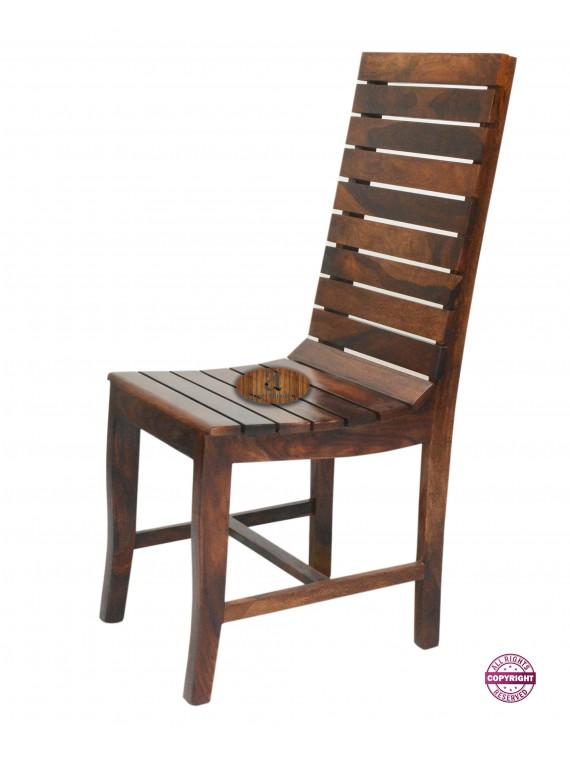 Modish Solid Sheesham Wood Four Seater Dining Table Set Teak Finish Folding