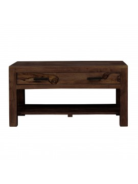 Briggs Coffee Table with Storage drawer in Walnut Finish