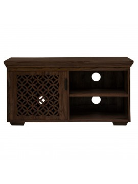 Nibley carved net tv unit in Walnut finish