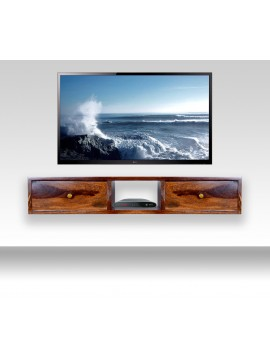Lublin wallshelf | tv unit with two drawer in Honey finish