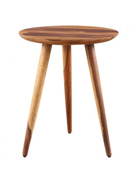 Solid Sheesham Wood Tripod End Table | Stool | Side Table | Corner Table | Sofa Side Table (Honey)