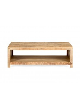 Epsilon Coffee table & TV Unit Rough Mango Natural Finish