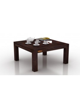 Monroe Sheesham Wood Coffee Table | 28x28 Inch Top | Dark Walnut