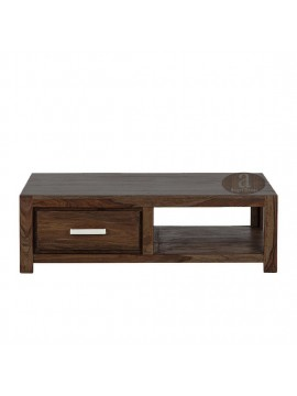 Wallman Storage Coffee table | TV unit | Solid Sheesham Wood | Walnut