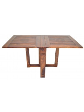 Sheesham Wood Folding Dining Table Stripped Top - Honey