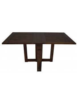 Sheesham Wood Folding Dining Table Stripped Top - Walnut