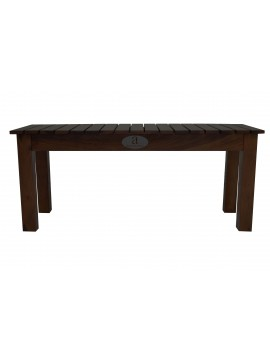 Diner Dining Bench Stripped Top | Hallway Bench (Walnut Finish)