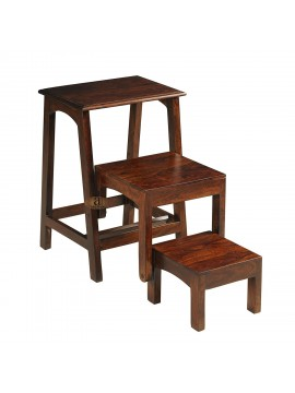 Sheesham Wood Nested Step Stool | Solid wood set of 3 stool | Folding Step Stool