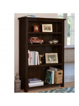 Antonio Solid Sheesham Wood large bookshelf in Walnut Finish