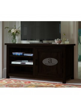 Columbus Wide Screen Tv unit with cabinet in Walnut finish