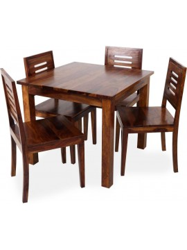 Sheesham Wood 4 Seater Dining Set  (Honey Finish)