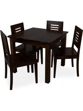 Sheesham Wood 4 Seater Dining Set  (Walnut Finish)