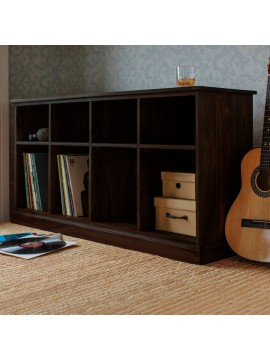 Angel Furniture Solid Sheesham Wood Space Saver Large Bookshelf | Sideboard (Standard, Walnut Finish)