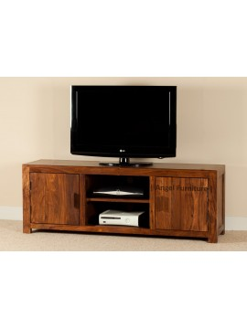 Angel Furniture Wide Screen Solid Sheesham Wood TV Unit | Entertainment Unit