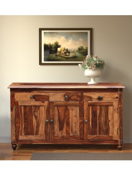 Angel Furniture Colorado Sideboard with Three Drawer and Sideboard (Standard, Honey Finish)