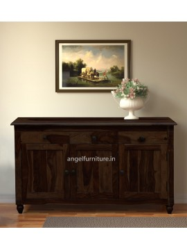 Angel Furniture Colorado Sideboard with Three Drawer and Sideboard (Standard, Walnut Finish)