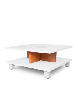 Monty Coffee Table, Size 28X28X14 Inch (White)