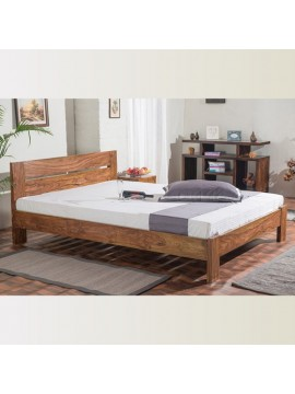 Mayfield Sheesham Wood Queen Size Platform Non Storage Bed (Honey)