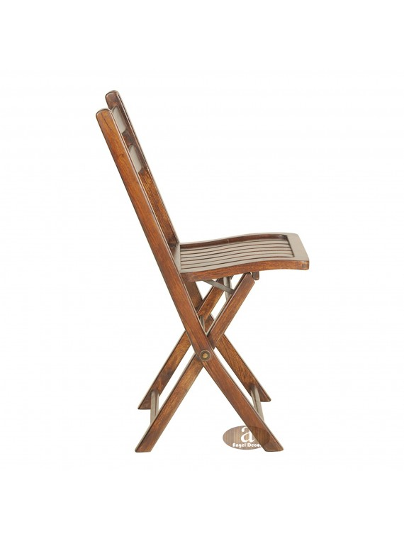 Angel's Sheesham Wood folding chair | Solid Wood Chair | Dining Chair | Outdoor chair for adults (Honey)