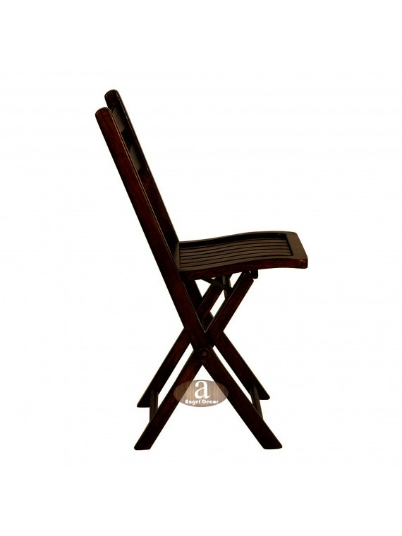 Angel's Sheesham Wood folding chair | Solid Wood Chair | Dining Chair | Outdoor chair for adults (Walnut)
