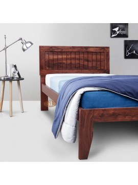 Rotorua Solid Sheesham Wood Handmade Modern Single bed (Honey)