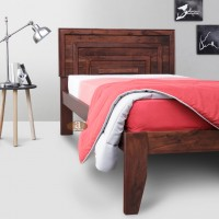 Lacrose Solid Sheesham Wood Handmade Modern Single bed (Honey)
