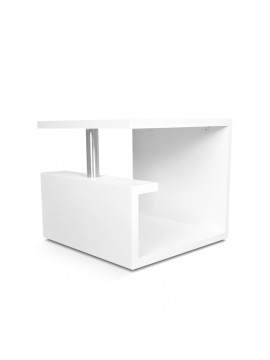 """G"" Shaped Bedside Table 18X18X16 Inch (White)"